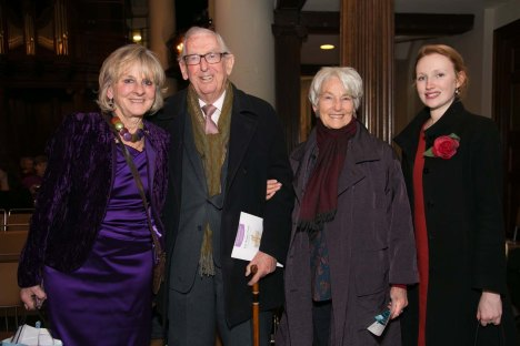 Isla Baring,  Lord and Lady Sainsbury and myself at the Tait Winter Prom