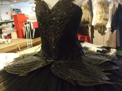 Black Swan tutu in construction