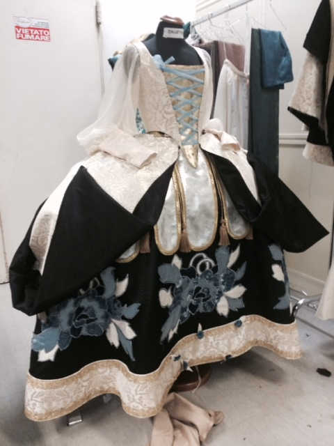 The new Bakst inspired Porcelain Princess costume made in La Scala