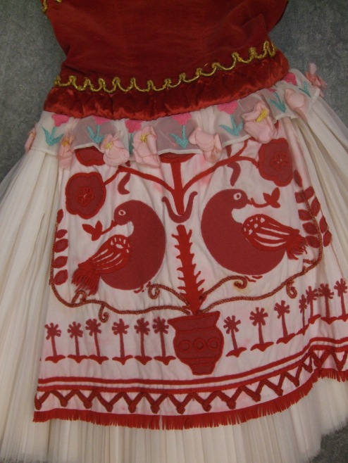Swanhilda's Act 1 costume - apron detail. Coppelia