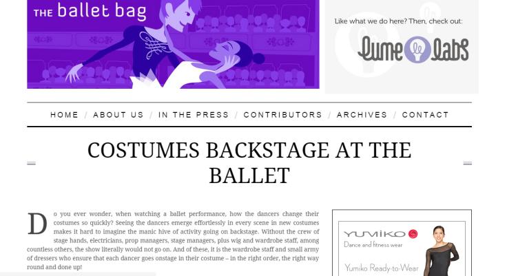 Ballet bag 1.