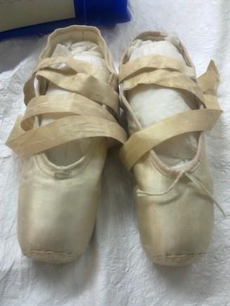 Anna Pavlova's pointe shoes