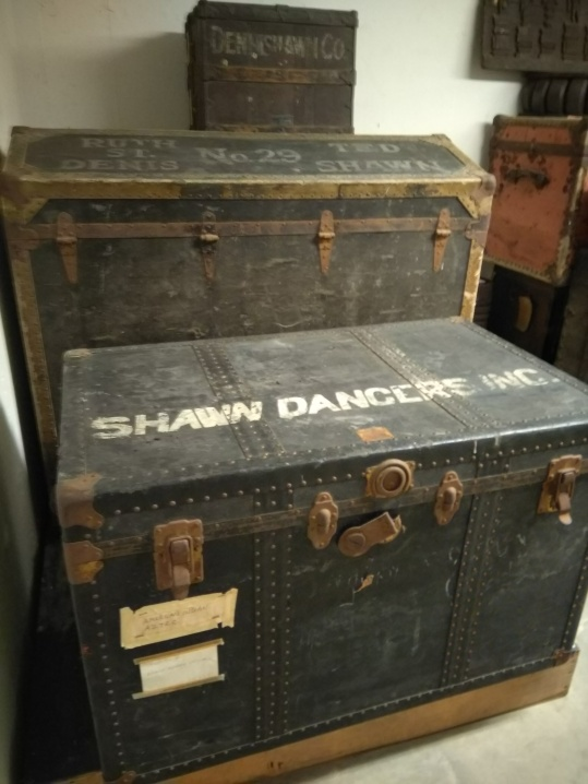 The original touring trunks - still full of costumes.
